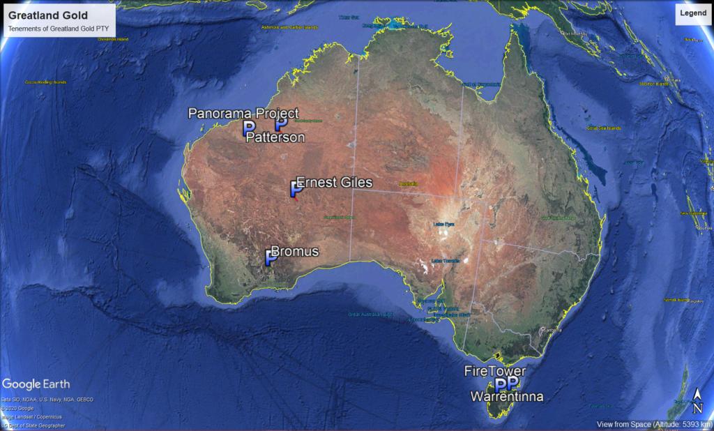 australia  - Greatland Gold Tenements